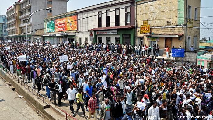 Ethiopian Muslims protest on Eid