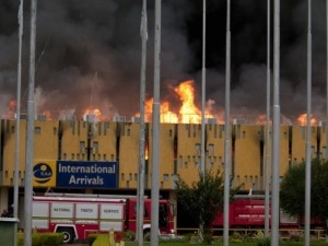 Fire at Jomo Kenyatta Intenational Airport Nairobi