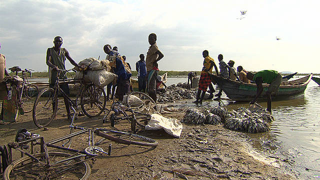 Kenyan Fishermen on Lake Turkana