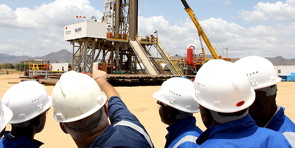 Ngamia 1 oil rig in Turkana county