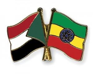 Sudan-Ethiopia flags