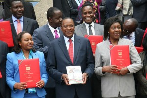 Kenyan Cabinet Secretaries after signing their perfomance contracts