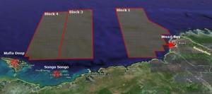 Ophir's natural gas blocks