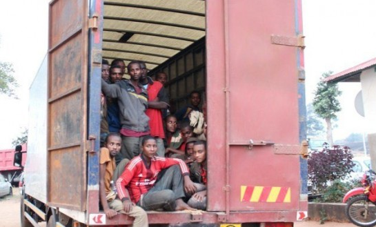 Zambia police found 100 Ethiopians hidden in track