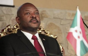 Burundi's President Pierre Nkurunziza attends the opening of a coffee conference in the capital Bujumbura
