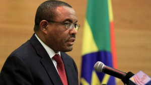 Ethiopia's Prime Minister Hailemariam Desalegn speaks during the resumption of South Sudan negotiations in Addis Ababa