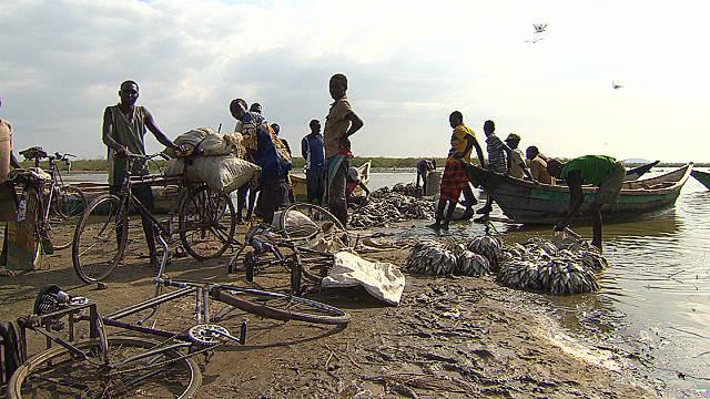 Kenyan Fishermen on Lake Turkana