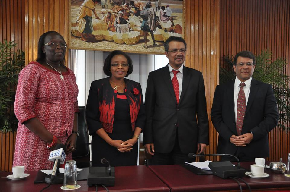 The Kenyan Delegation with Minister of Foreign Affairs Dr.Tedros Adhanom