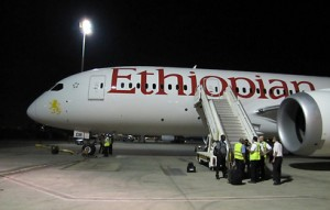 Ethiopian Airlines at Ben Gurion Airport