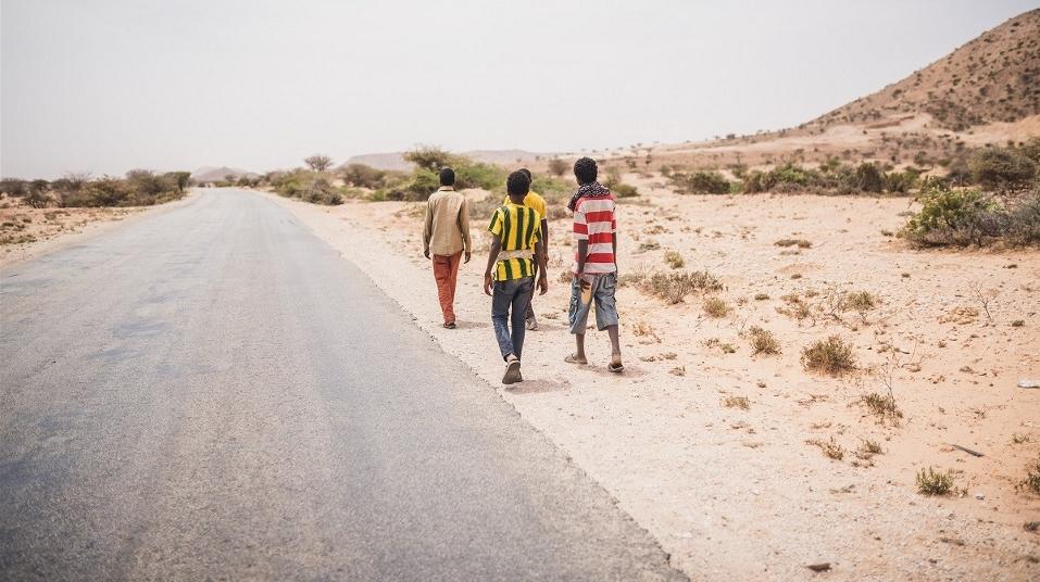 Ethiopians on their way to Yemen