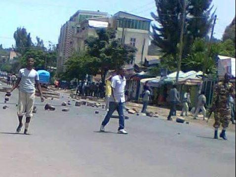 Civil uprising in Gondar July 13, 2016