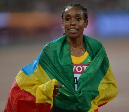 Ethiopia's Almaz Ayana Wins 10,000 Meters Race and Sets World Record in Rio