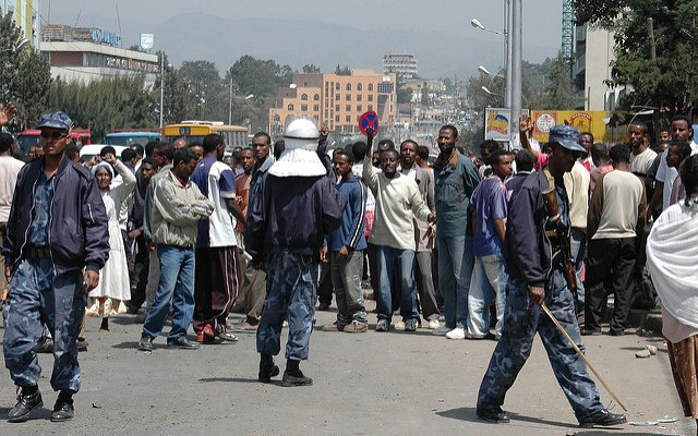 Protesters Clash With Ethiopian Police During Amhara Protests in Gondar