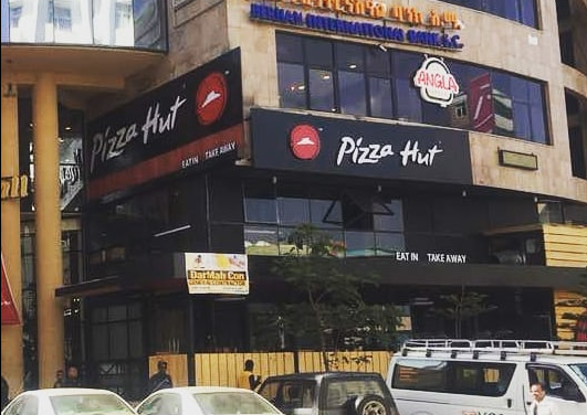 Pizza Hut is the first Western fast-food chain in Ethiopia